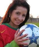 voetballende meid